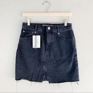ASOS Women's Black Distressed Denim Skirt Size 8